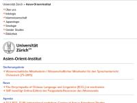 Japanologie am Ostasiatischen Seminar der Universität Zürich (Schweiz)