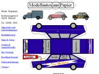 Modellautos aus Papier