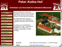 Pater-Kolbe-Hof - Wohnheim und Werkstatt für behinderte Menschen in 02788 Schlegel