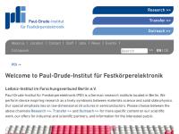 Paul-Drude-Institut für Festkörperelektronik (PDI)