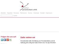 """Institut """"persönlichkeit + ethik"""""""