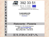 Pizza Europa Berlin - Lieferservice und Restaurant