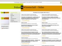 Polizei & Wissenschaft-Online
