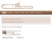 """Posaunenquartett """"...unbekannt verzogen"""""""