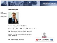 Qualisa Consult - Helmut Roike