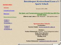 Betriebssport Kreisverband Essen e.V. Sparte Schach
