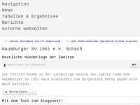 Naumburger Sportverein 1951 e.V. Schach