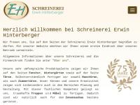 Schreinerei Erwin Hinterberger