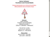 Henry Schwarz, Tischlerei und Fensterfabrik