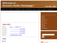 Acoustic Guitar Homepage