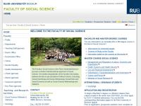 Fakultät für Sozialwissenschaft der Ruhr-Universität Bochum