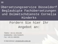 Übersetzungsservice Düsseldorf Cornelia Hinderks