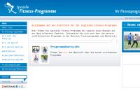 Spezielle Fitnessprogramme