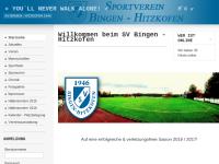 Sportverein Bingen-Hitzkofen Abteilung Fußball