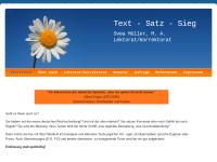 Text - Satz - Sieg Svea Müller