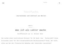 Textfuchs Christoph Marx