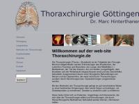 Thoraxchirurgie Göttingen Dr. Marc Hinterthaner