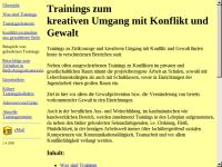 Trainings Kreativer Umgang mit Konflikt und Gewalt