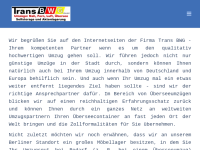 Trans BWG Umzüge Berlin