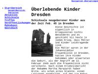 Überlebende Kinder Dresden 1945