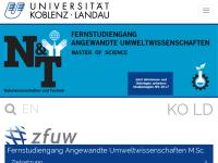 Weiterbildender Fernstudiengang für Angewandte Umweltwissenschaften