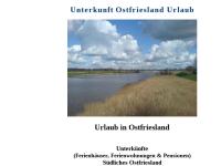 Unterkünfte Ostfriesland Urlaub