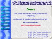 Terminkalender für Volkstanz für die Hallertau und Umgebung