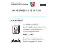 Die Landeswahlleiterin des Landes Nordrhein-Westfalen