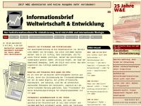 Informationsbrief Weltwirtschaft & Entwicklung