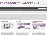 Wortfokus - Julia Weise-Holtgräwe