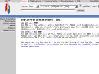 OPAC der Zeitschriftendatenbank (ZDB)