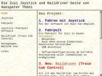 Die Zusi Joystick und Raildriver Seite von Hanspeter Thöni