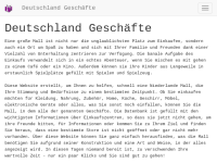Deutschland Geschäfte