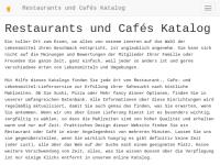 Restaurants und Cafés Katalog